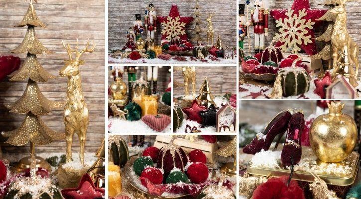 Χριστουγεννιάτικη διακόσμηση βελούδινη