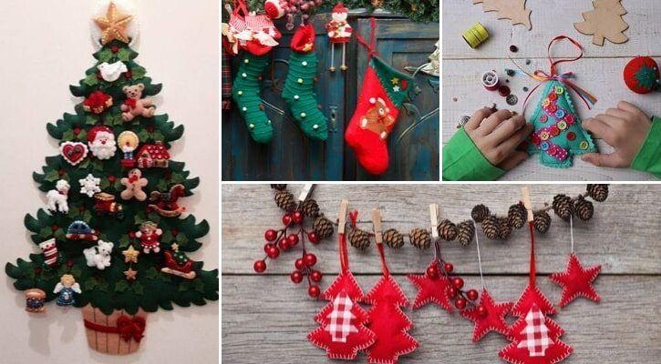 Χριστουγεννιάτικη διακόσμηση με τσόχα