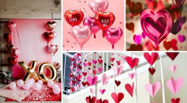 Διακόσμηση πάρτυ για ερωτευμένους