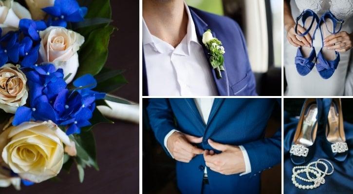 Νυφικό και κουστούμι γαμπρού