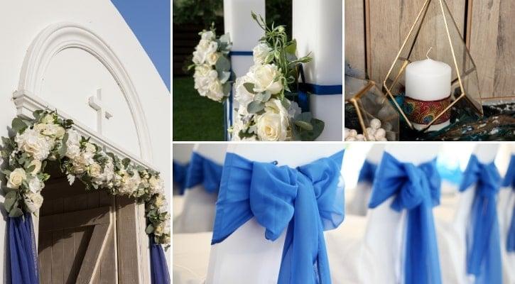 Στολισμός εκκλησίας μπλε