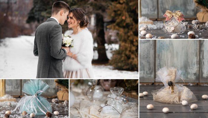 9 Ιδέες για Χειμωνιάτικες Μπομπονιέρες Γάμου