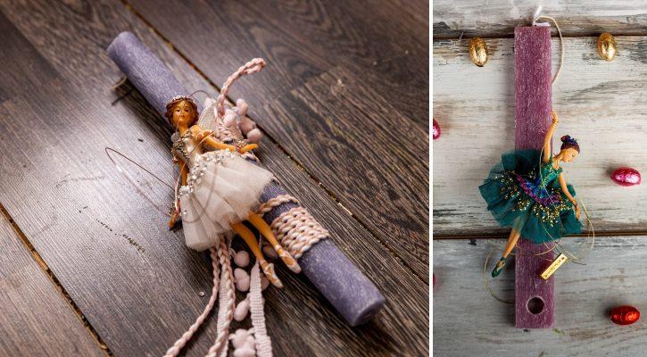 Ρομαντικές πασχαλινές λαμπάδες με μπαλαρίνα