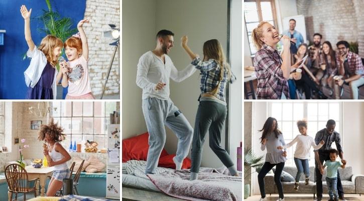 Χορός και τραγούδι στο σπίτι
