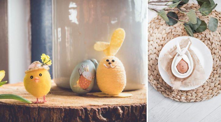 DIY πασχαλινά αυγά λαγουδάκια