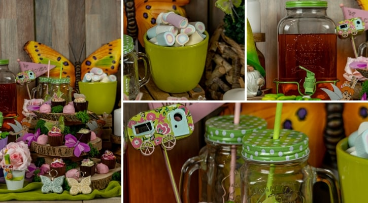 Candybar βάπτισης με θέμα πεταλούδα