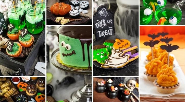 Γλυκά και τούρτα για Halloween πάρτυ