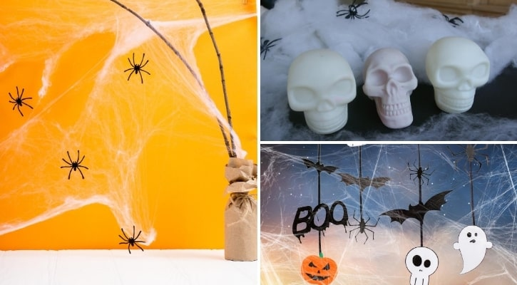 Διακόσμηση Halloween με ιστό αράχνης