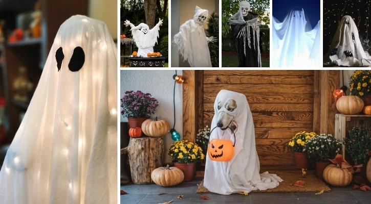 Ιδέες Διακόσμησης για Halloween DIY φάντασμα από υφάσματα